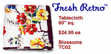Vintage Tablecloth - New Vintage Style Blossoms