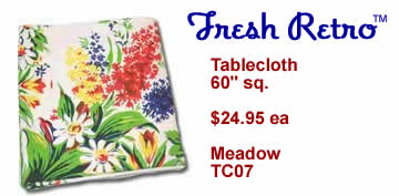 Vintage Tablecloth - New Vintage Style Meadow