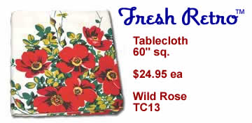 Vintage Tablecloth - New Vintage Style Wild Rose